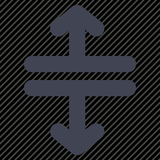 arrow, arrows, direction, down, lines, split, up icon