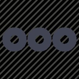 bullet, bullets, circle, dots, points icon