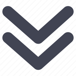 arrow, direction, double, down, line, pointer, pointers icon