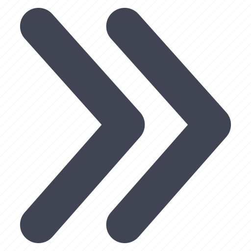 arrow, direction, double, line, pointer, pointers, right icon
