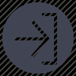 arrow, arrows, download, import icon