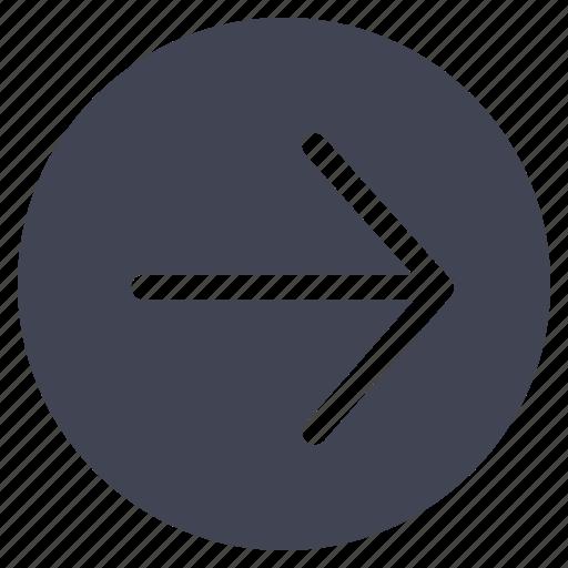 arrow, arrows, direction, move, right, round icon