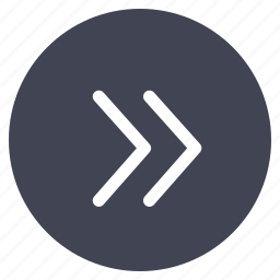 arrow, direction, double, pointer, right, round icon