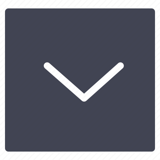 arrow, direction, down, navigation, pointer, square icon