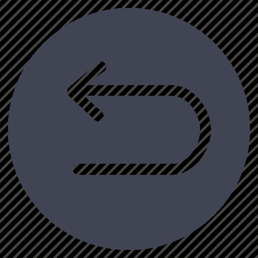 arrow, arrows, direction, left, navigation, turn, u icon
