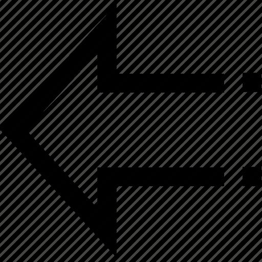 arrow, go left, left icon