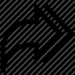 arrow, export, multi icon