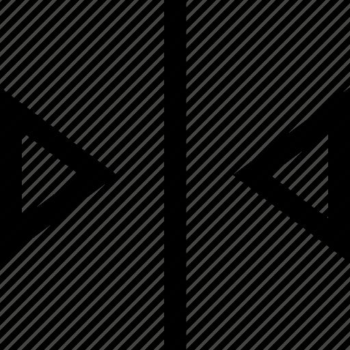 arrow, left, meet, right icon