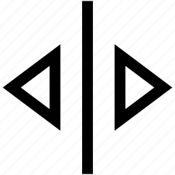 right left, slide icon