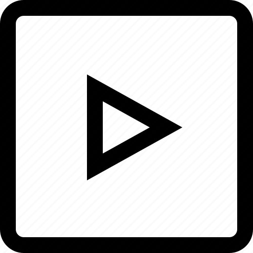 arrow, keyboard, right, square icon