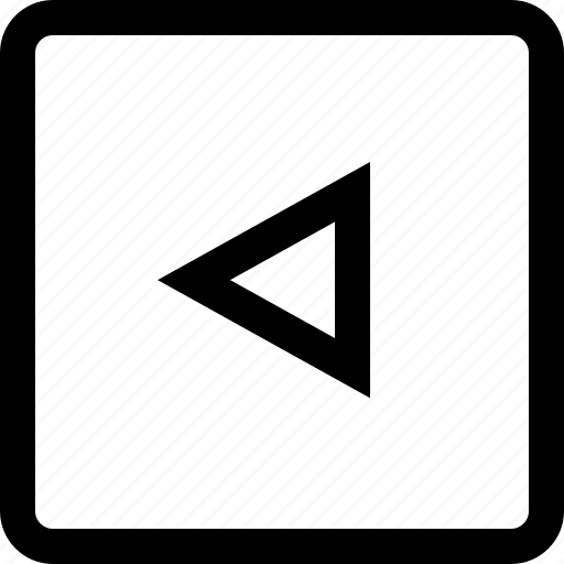 arrow, keyboard, left, square, triangle icon