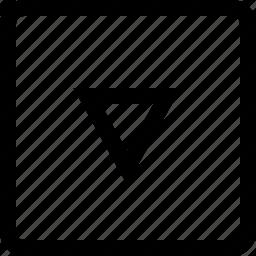 arrow, keyboard, square, triangle icon