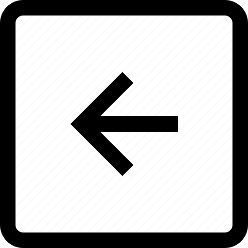 arrow, keyboard, left, square icon