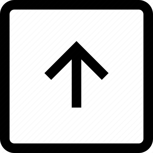 arrow, keyboard, square, up icon