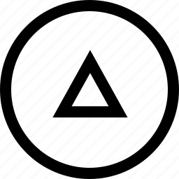 arrow, circule, keyboard, up icon
