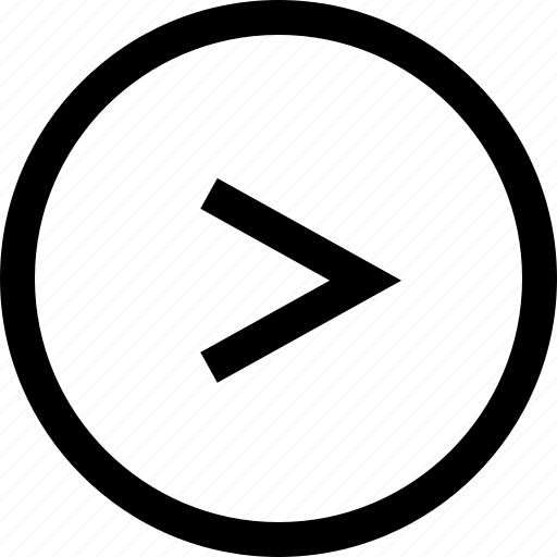 arrow, circule, keyboard, right icon