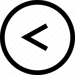 arrow, circule, keyboard, left icon