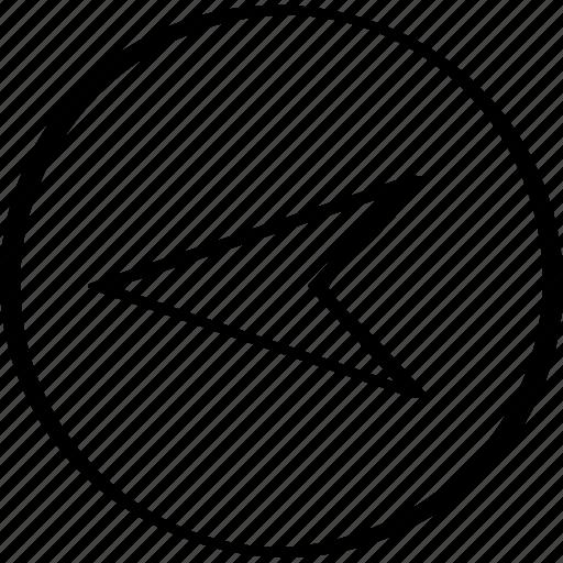 arrow, back, direct, exit icon