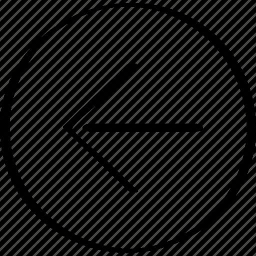 arrow, back, point, pointer icon