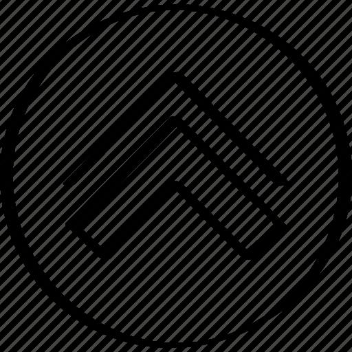 arrow, double, up icon