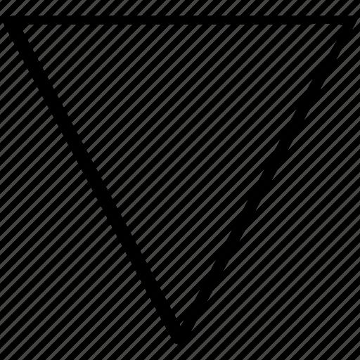 arrow, down, drawn, hand icon