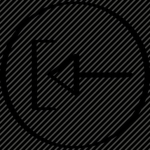 arrow, exit, now, pointer icon