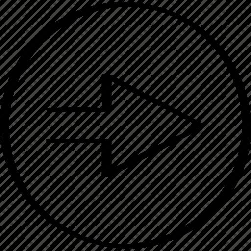 arrow, direction, go, next icon
