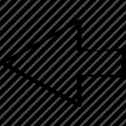 arrow, left, point, pointer icon