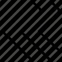 arrow, left, pointing, rewind icon