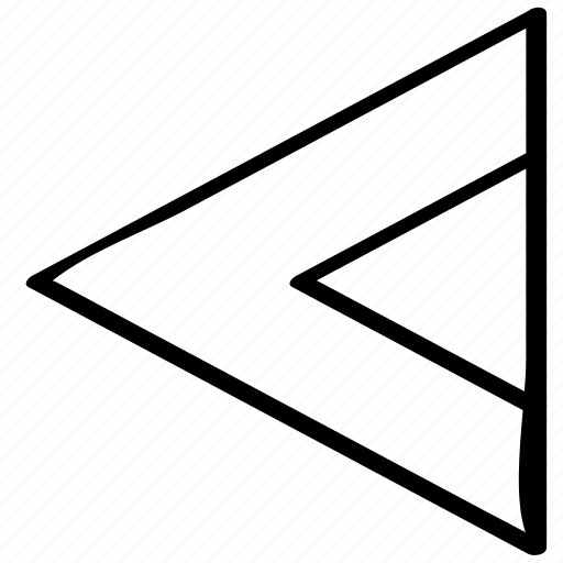 left, point, pointer icon