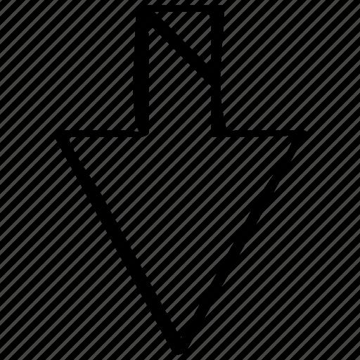 direciton, down, point icon
