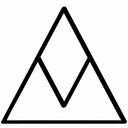 point, pointer, triangle icon