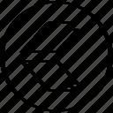 arrow, left, thick icon