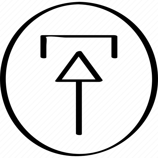 arrow, point, upload icon