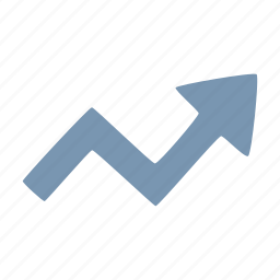 arrow, arrows, stats, zigzag icon