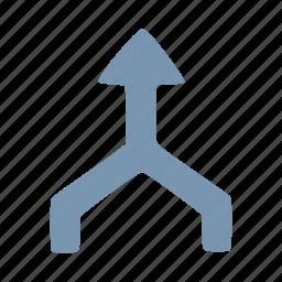 arrow, arrows, merge icon