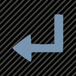arrow, arrows, back, return icon