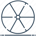 atomic, circle, nuclear, radiation, radioactivity icon
