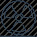 danger, mass, radiation, weapon icon