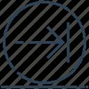 arrow, circle, next, right, sign icon