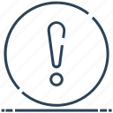 attention, circle, exclamation, help, sign icon