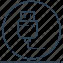 circle, data, drive, flash, usb icon