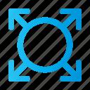 arrow, expand, arrows, navigation
