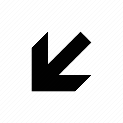 arrow, beveled, medium icon