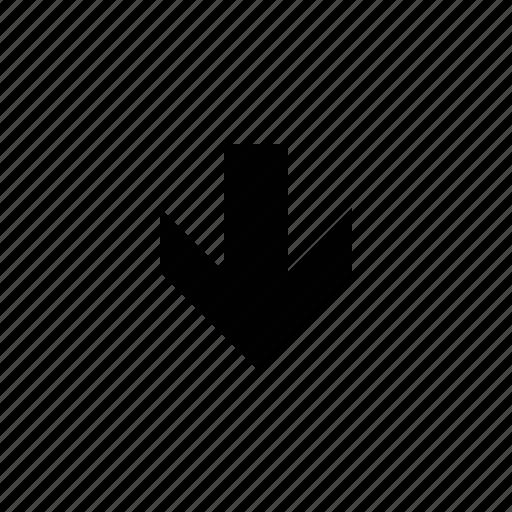 arrow, beveled icon