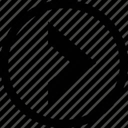 arrow, big, chevron, circle icon