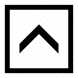 arrow, big, chevron, square icon