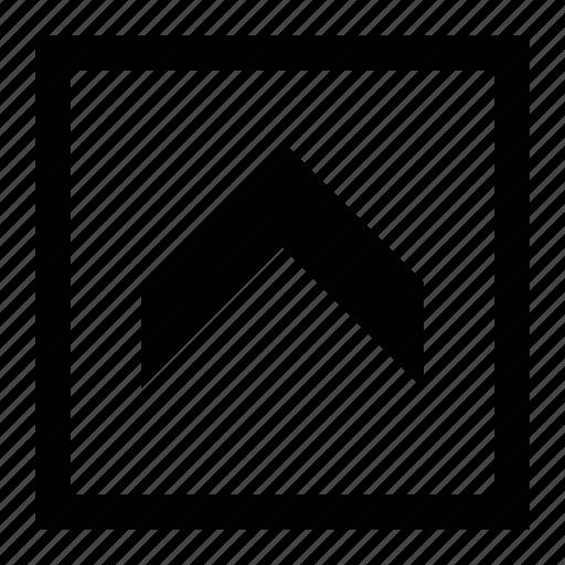 arrow, big, chevron, fat, square icon