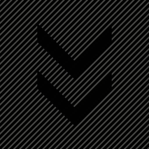 arrow, chevron, double icon
