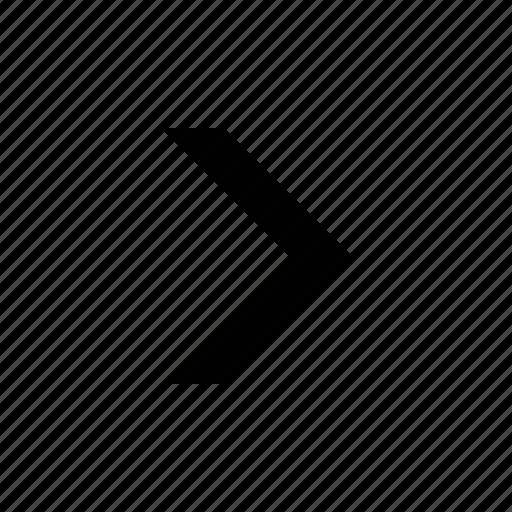 arrow, big, chevron, medium icon